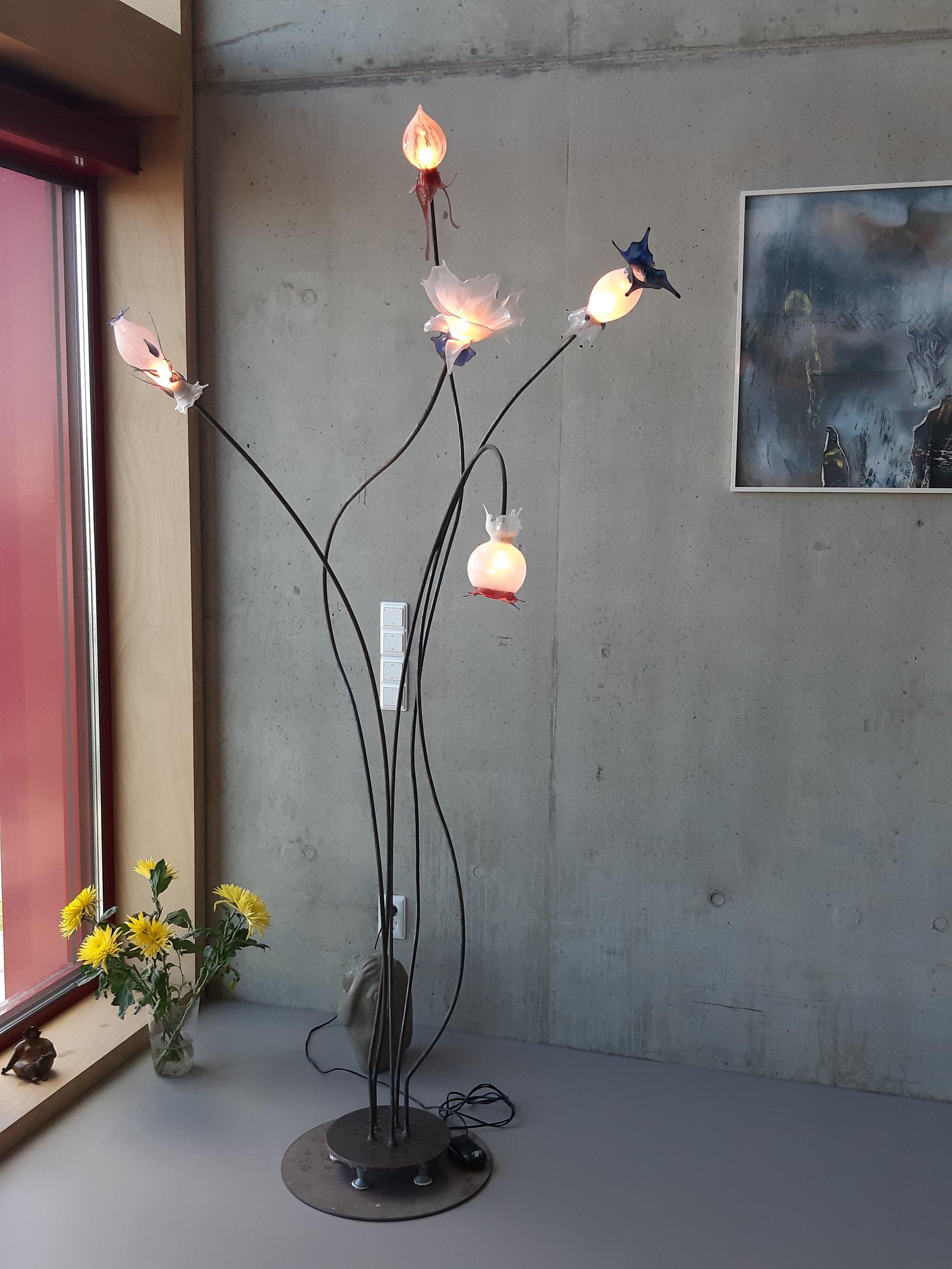 staande lamp glasblazer miranda van der waal